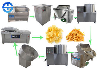 China Small Scale Potato Chips Making Machine Semi Automatic French Fries Production Line supplier