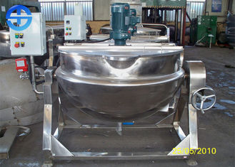 China Tilting Electric Jacketed Kettle 304 Stainless Steel Material With Mixer supplier