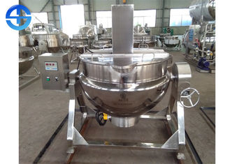China Industrial 500 Liter Steam Cooking Kettle , Double Jacketed Steam Kettle supplier