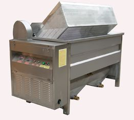 China 380v Automatic Discharging Food Frying Machine For Potato Chips / Fish Fryer supplier