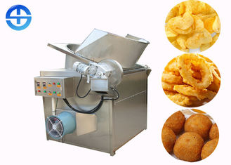 China Durable Peanuts Food Frying Machine Automatic And Temperature Control supplier