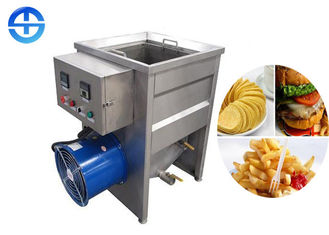 China Small Capacity Manual Food Frying Machine Oil Tank Size 500*500*400mm supplier