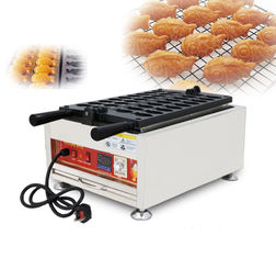 China 3.2kw Power Commercial Snack Food Goldfish Waffle Machine 690 * 380 * 290mm supplier